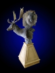 Fallow and Tahr Pedestal Mount