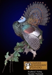 Ocellated Turkey Mount Strutting taxidermy pose